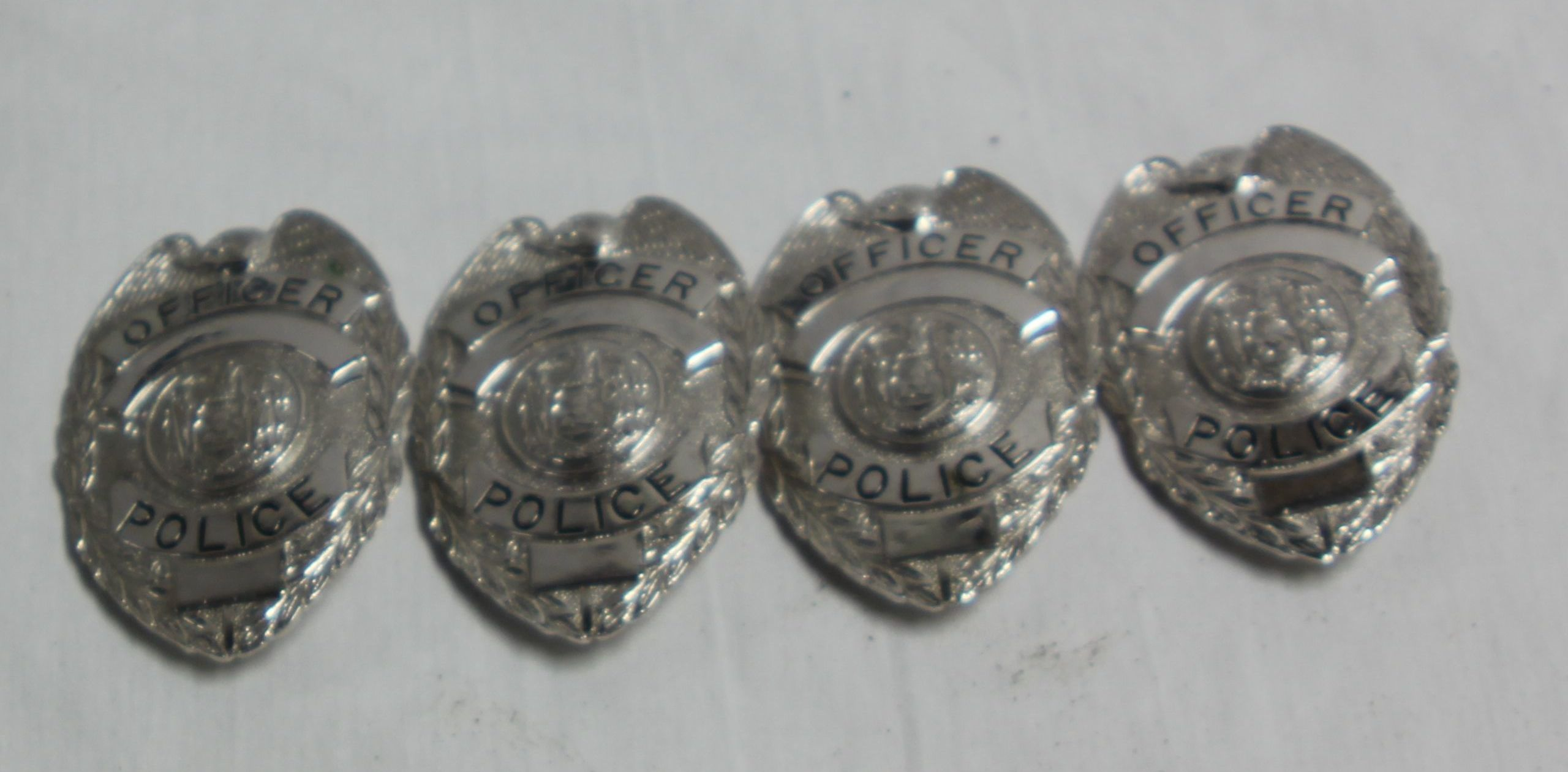 Silver Officer Police Badges-Silver