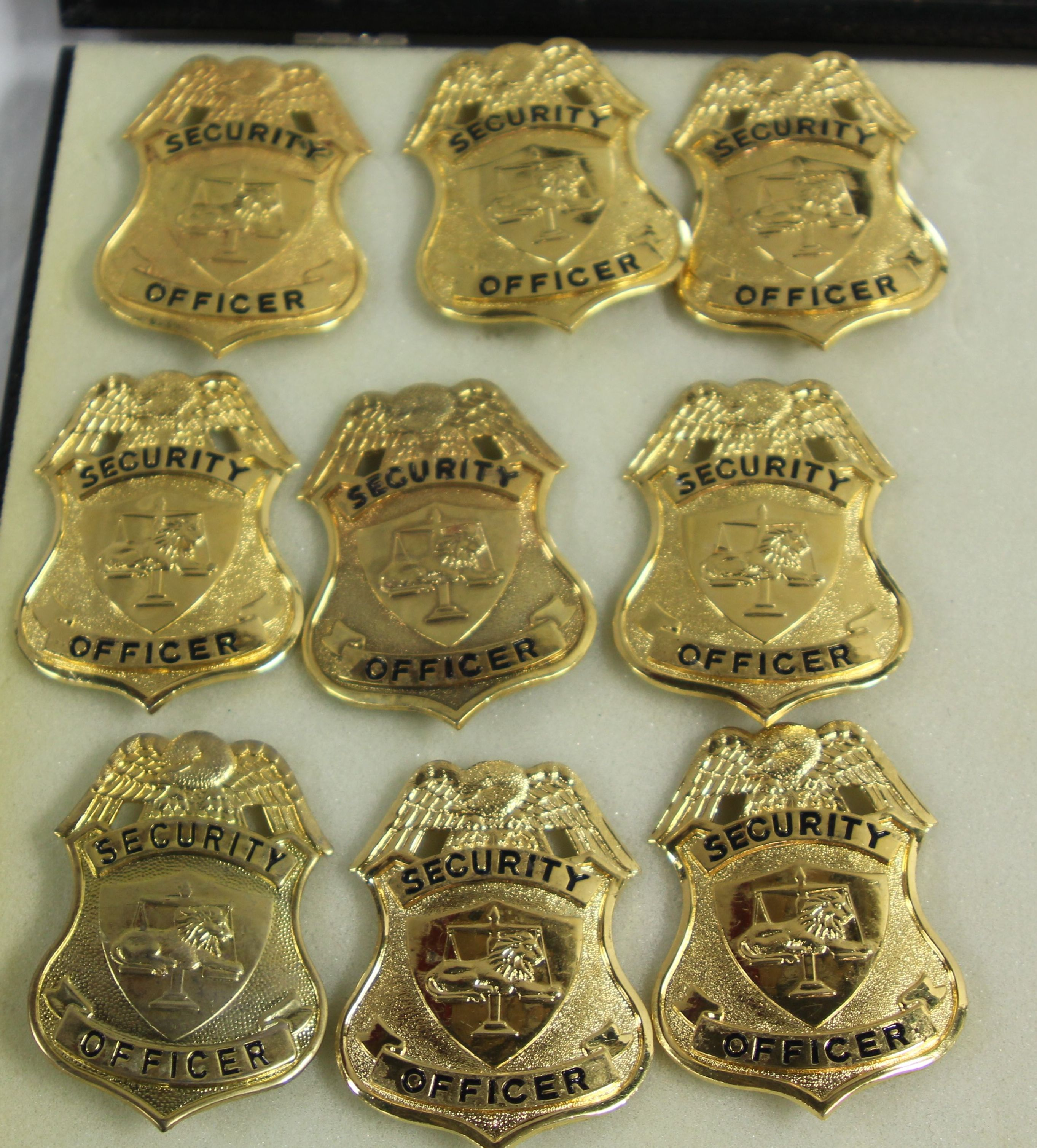 Gold Security Office Badges