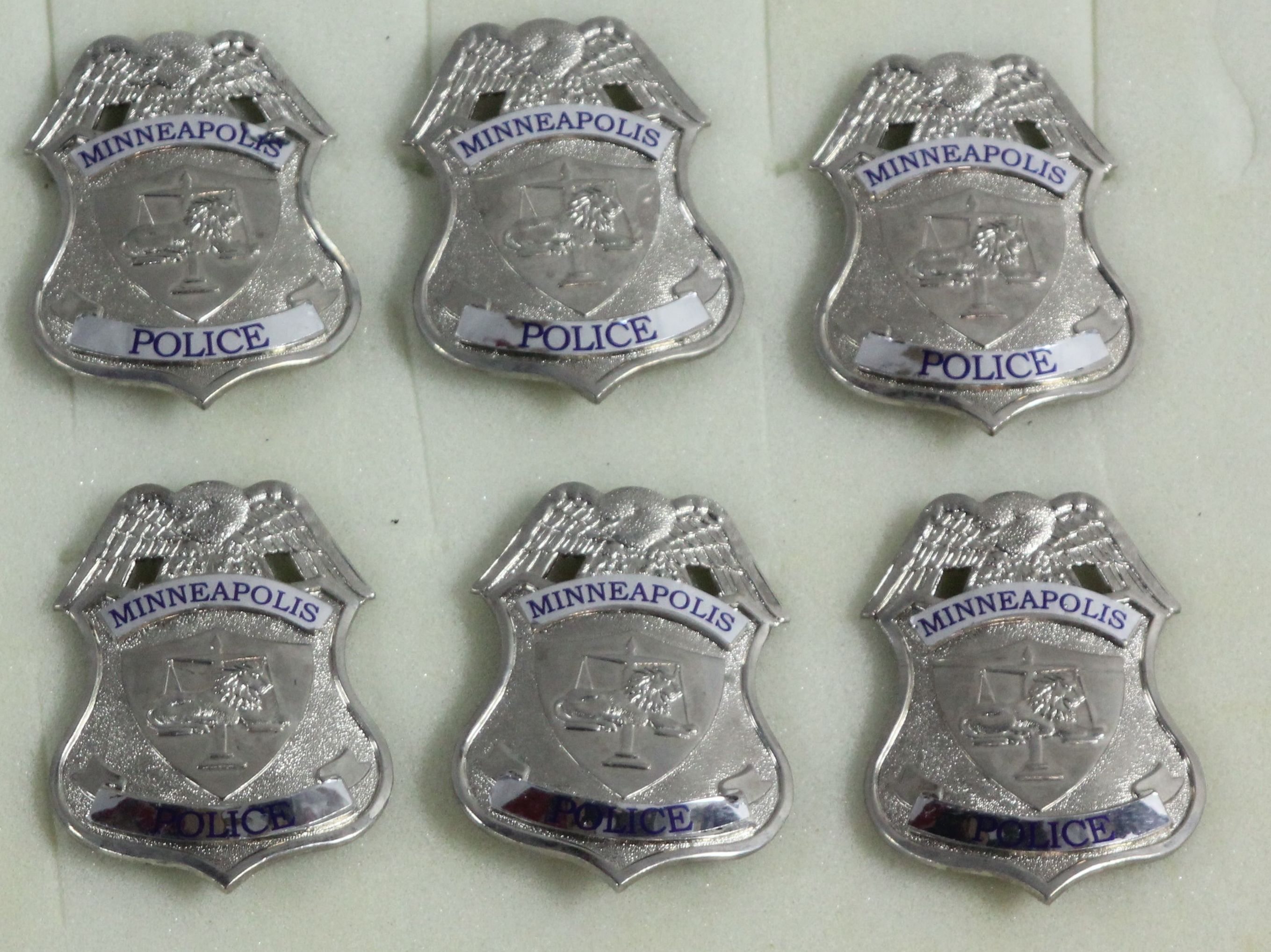 Silver Minneapolis Police Badges