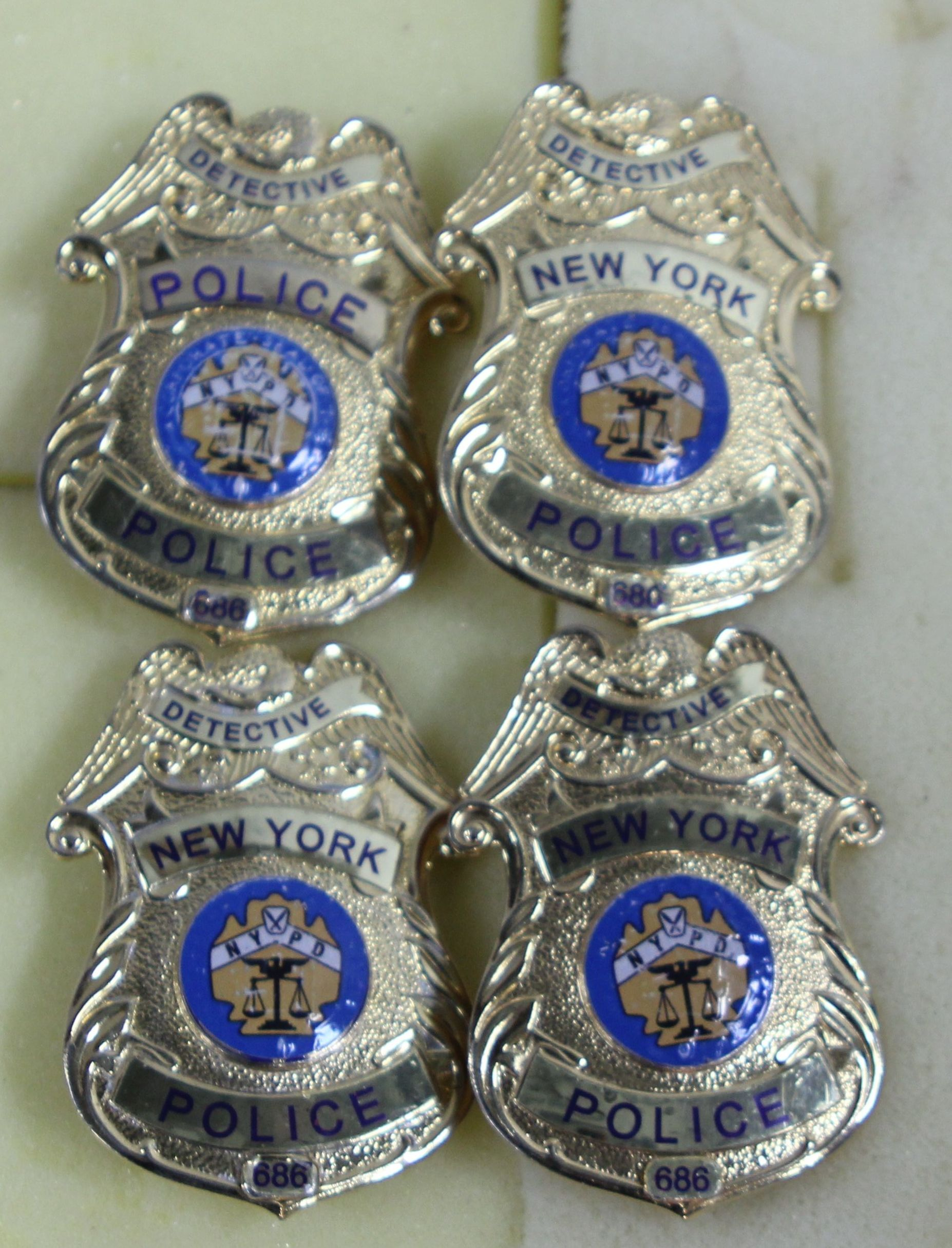 New York Police Badges Gold