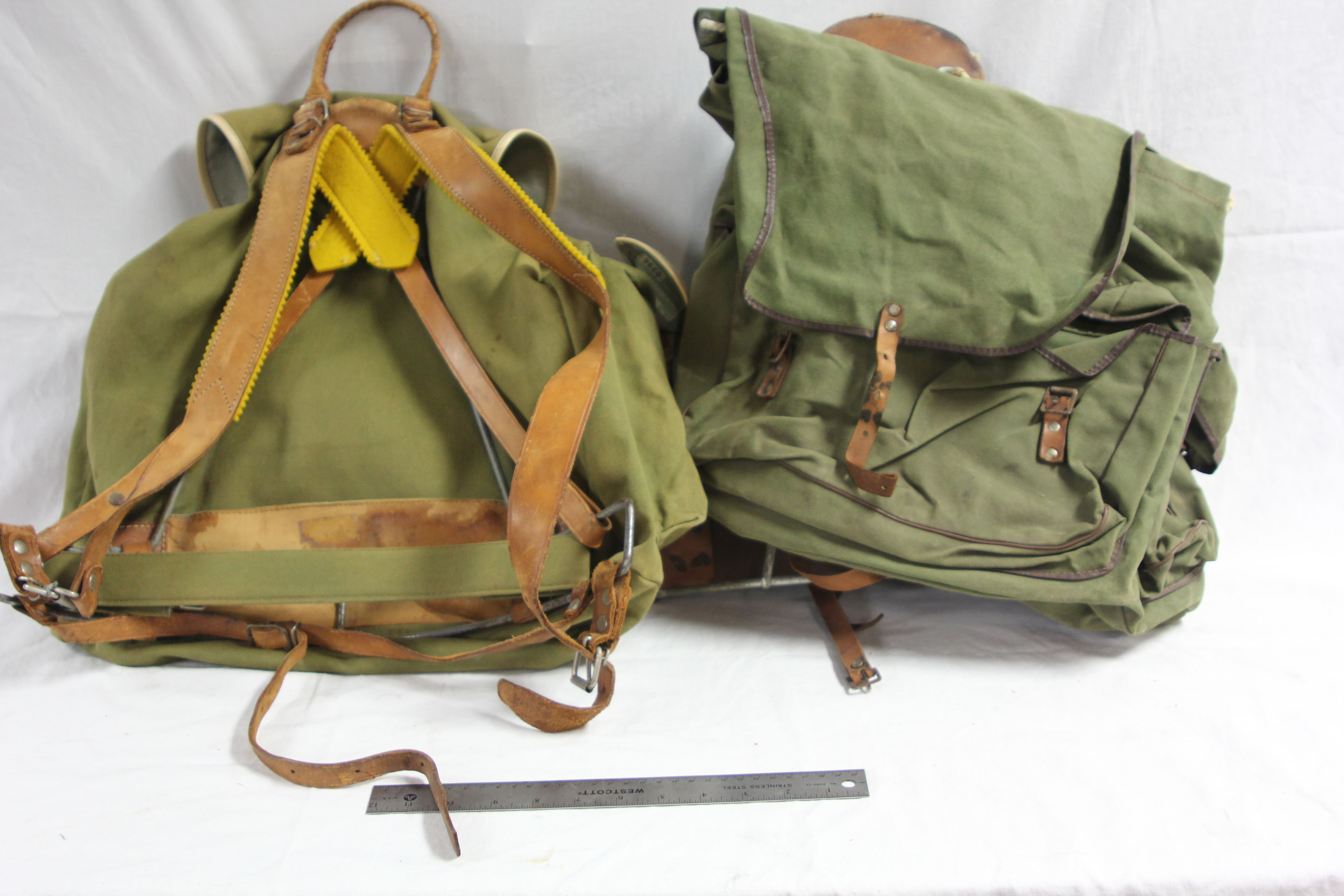 Period Army Backpacking Bags