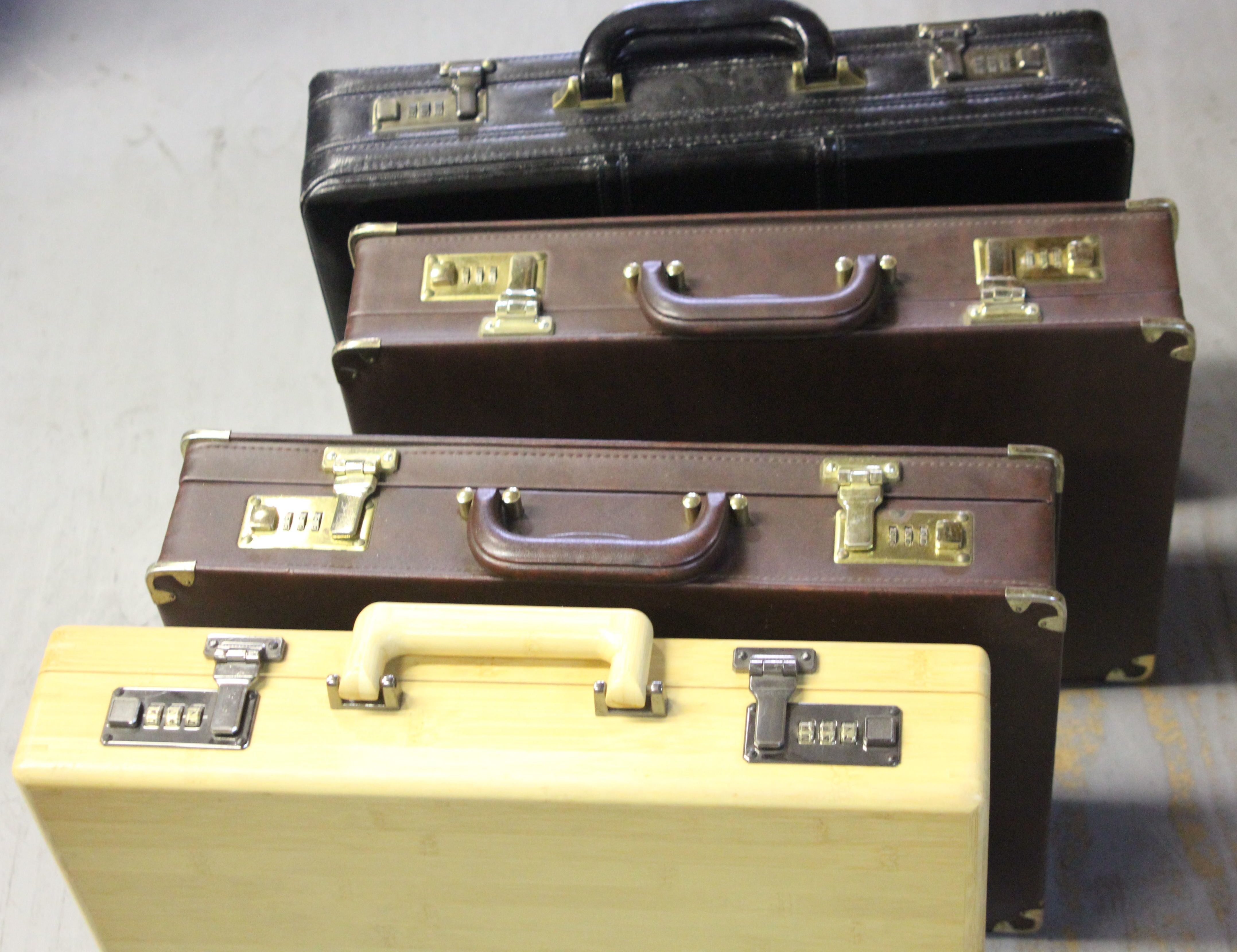 Various Hard Covered Briefcases