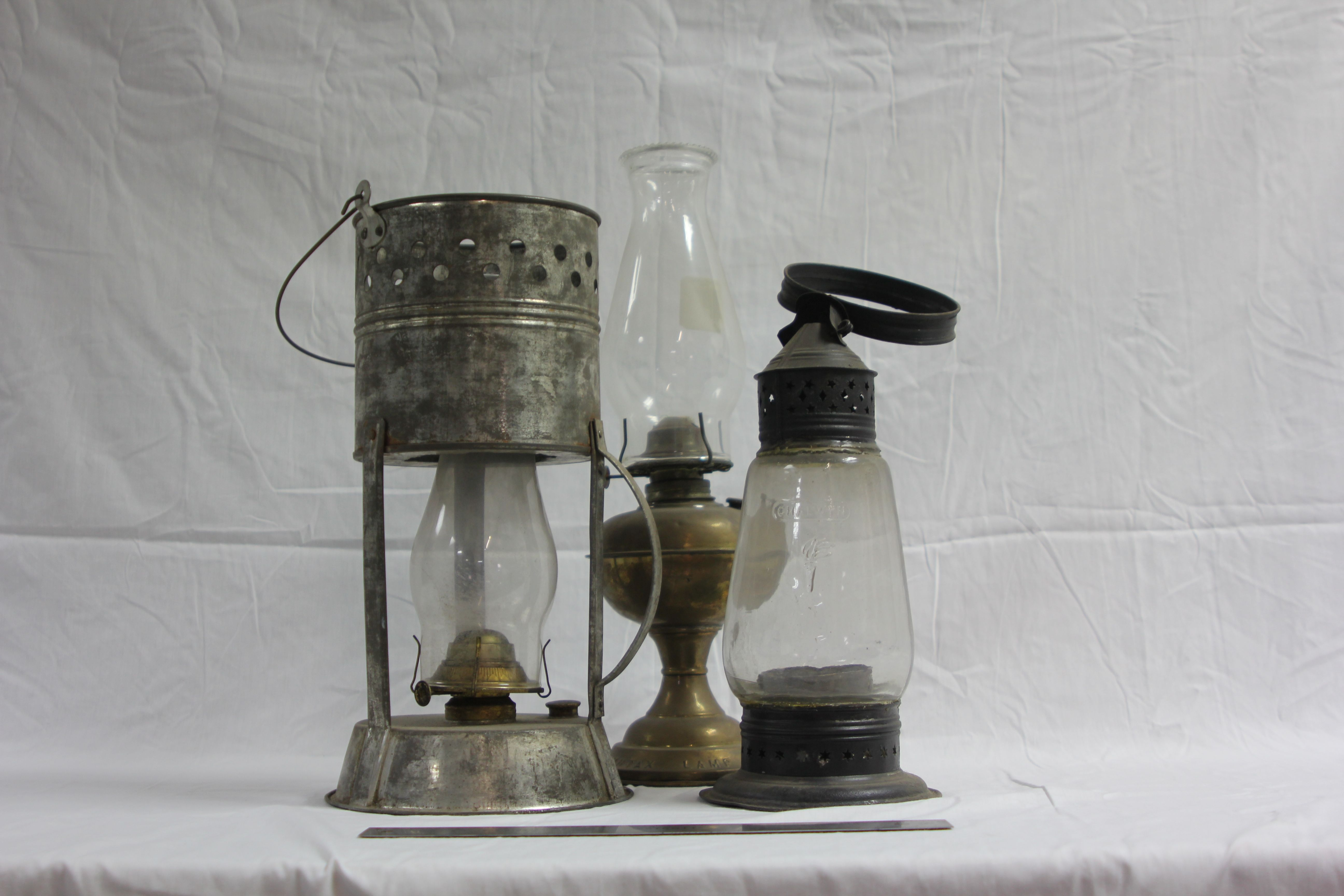 Old Fashioned Wicker Lamps