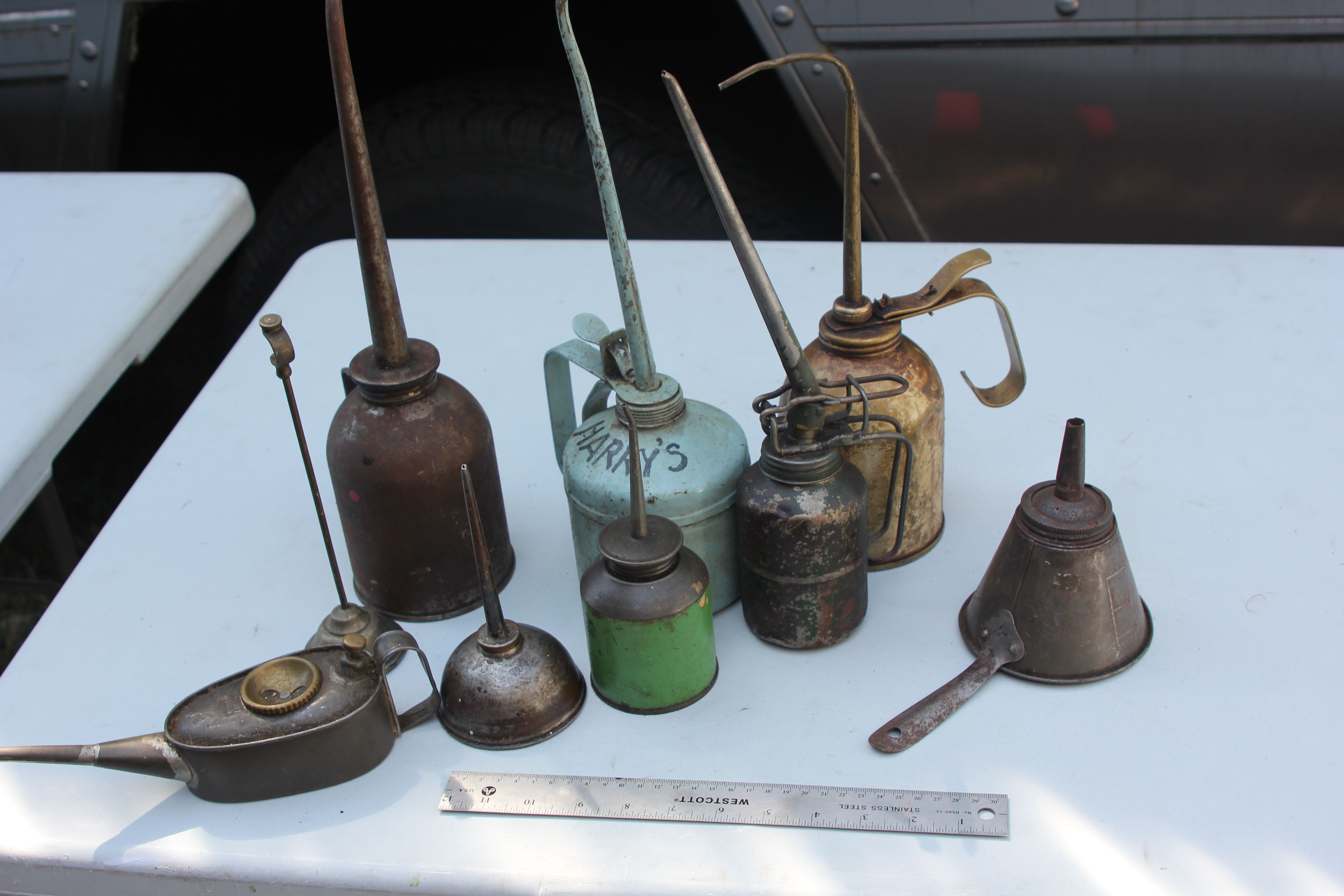Period Engine Oil Containers