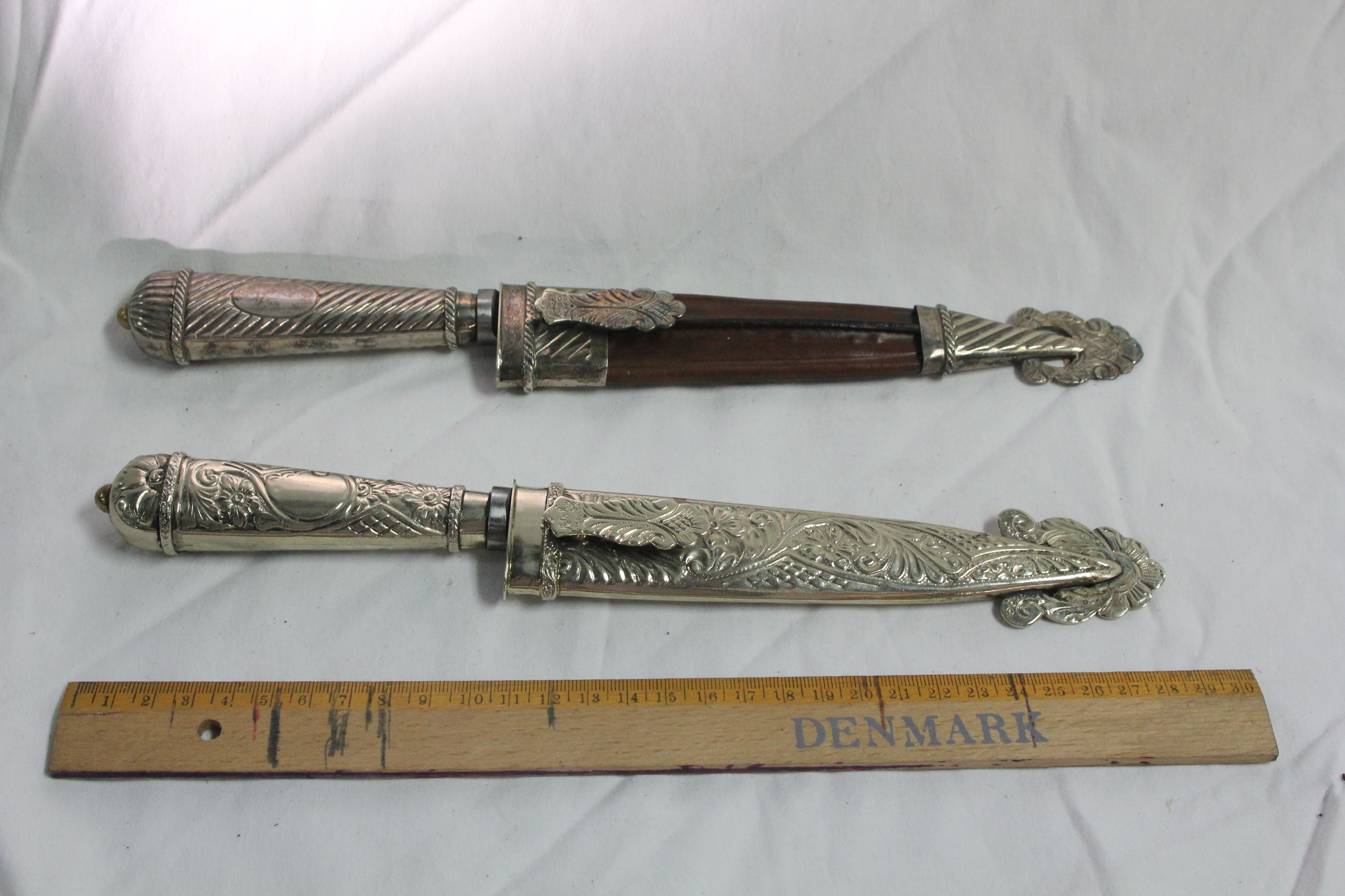 Silver Hand Crafted Knifes